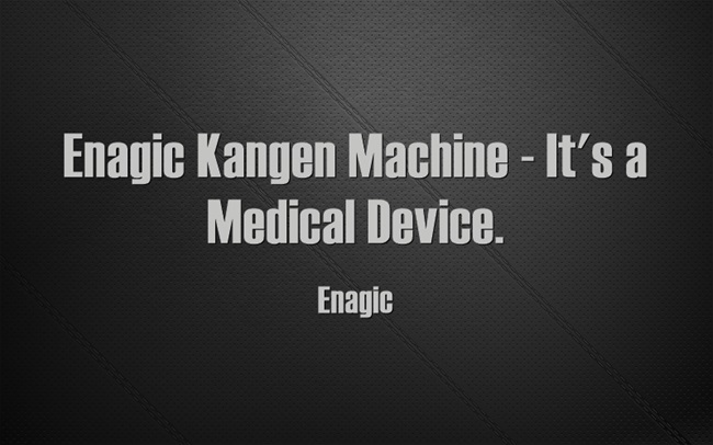 Enagic Kangen Machine