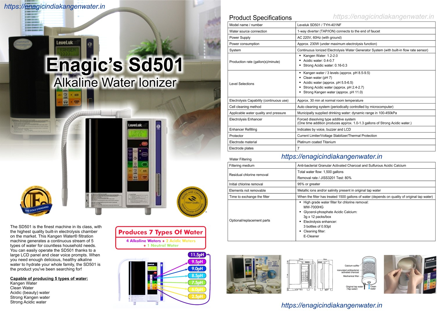 Enagic SD501 Water Ionizer