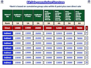 Group Sales and Indirect Income Structure of Kangen Business Plan India